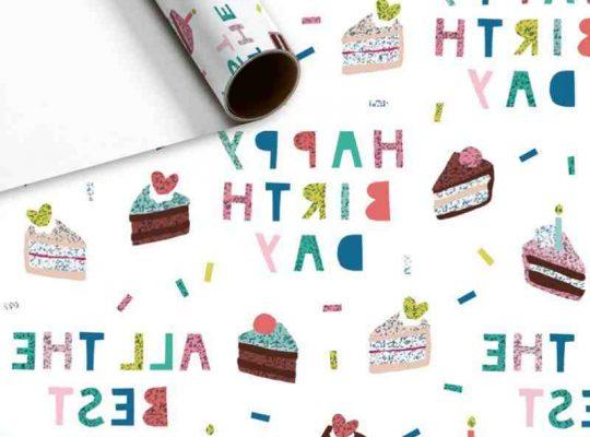 Papier cadeau anniversaire